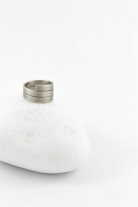 Ring Triple, Silver