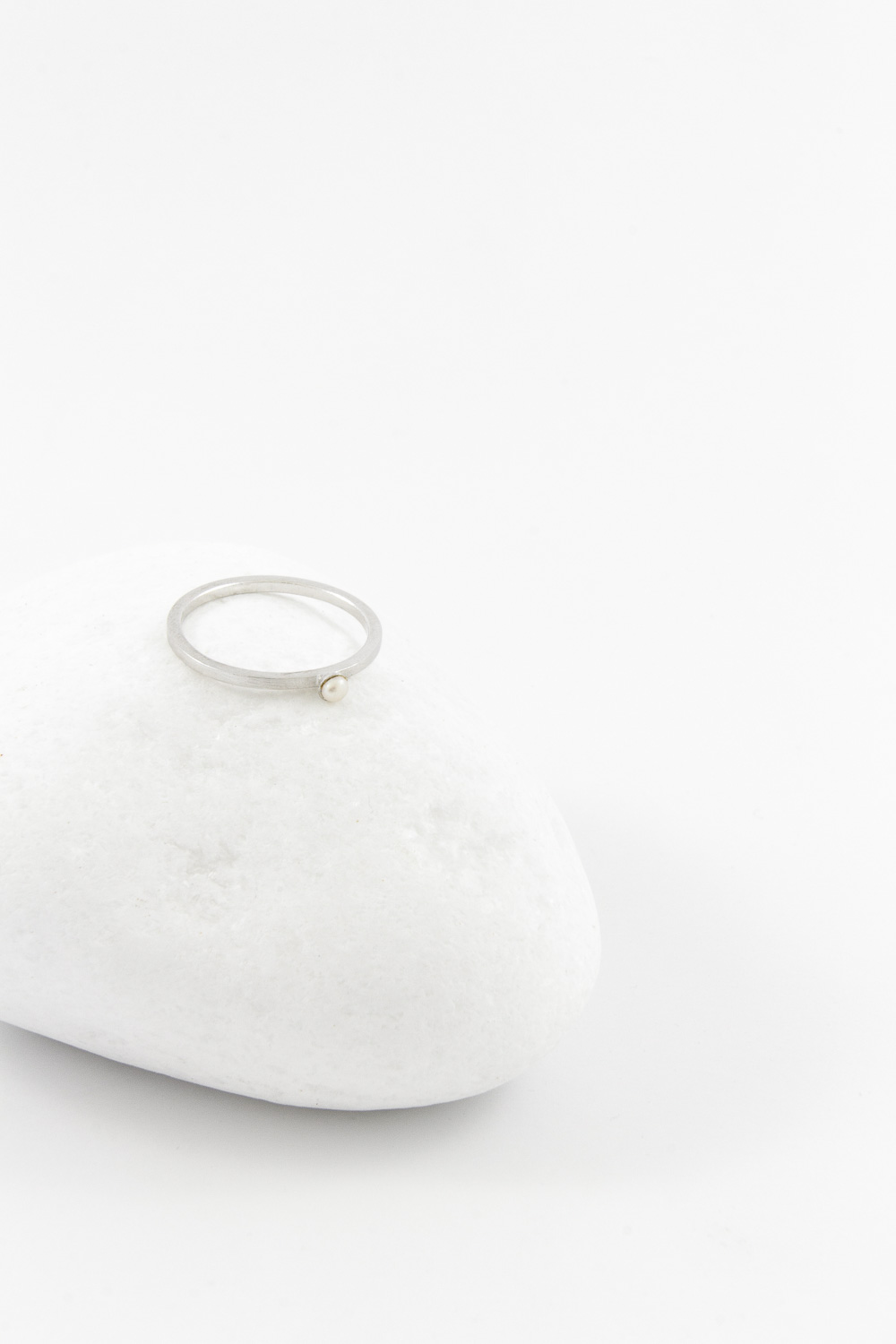 Ring Pearl, Silver