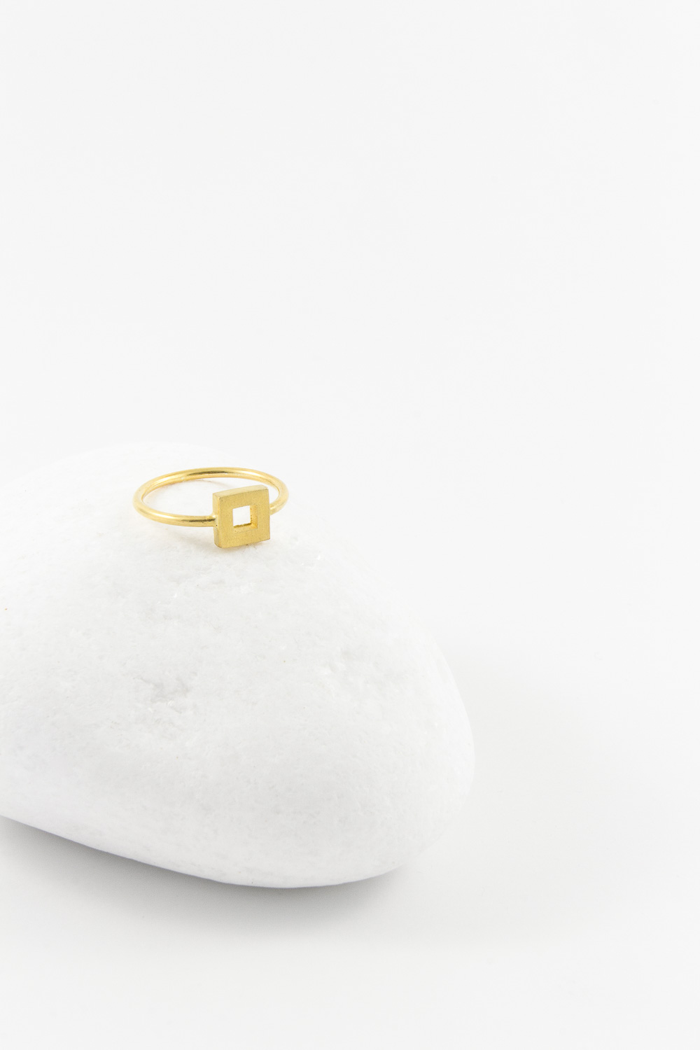 Ring Coin Square, Gold