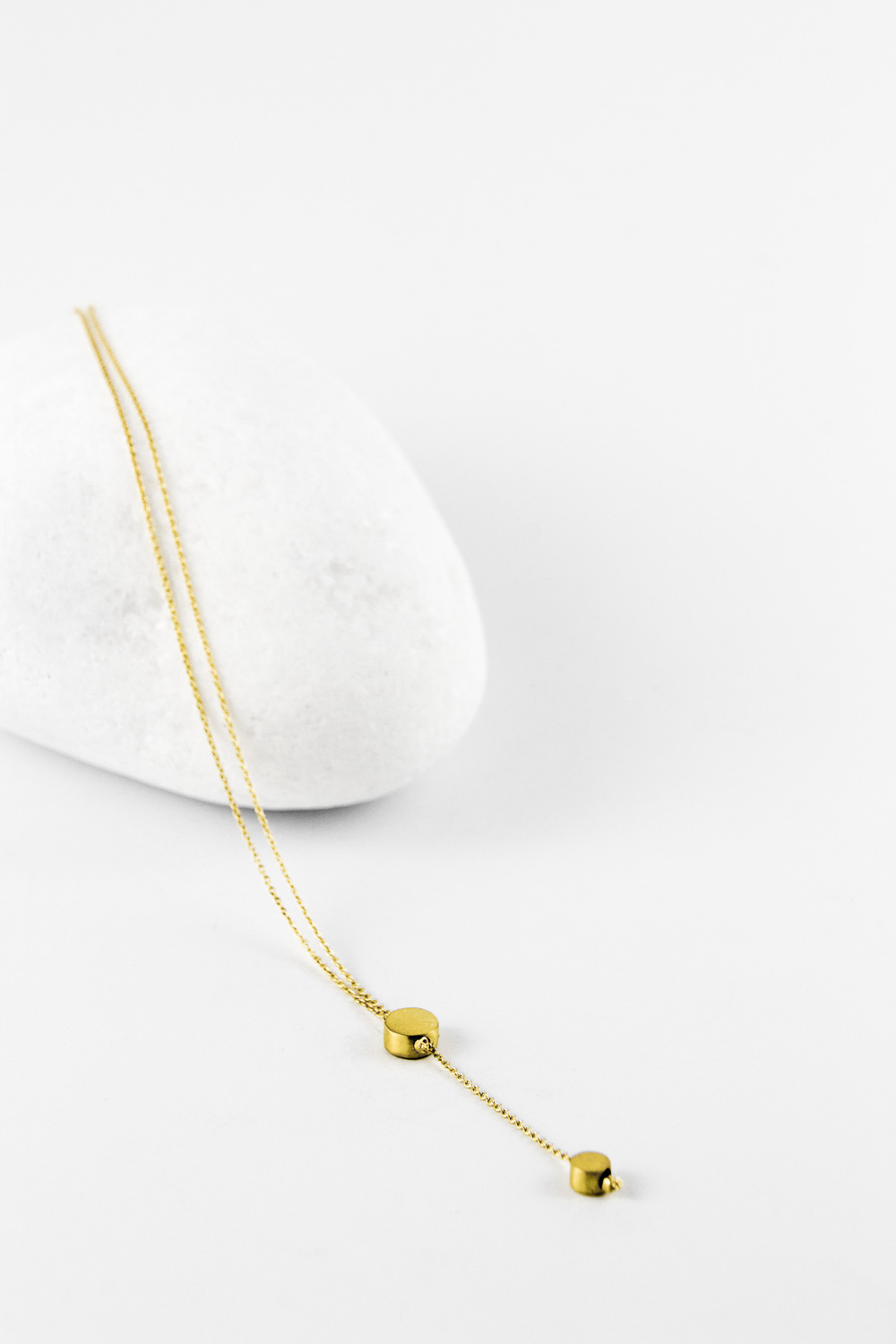 Necklace Dots Y, Gold