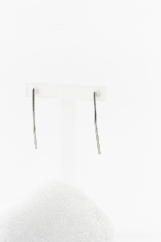 Earrings Line Short, Silver