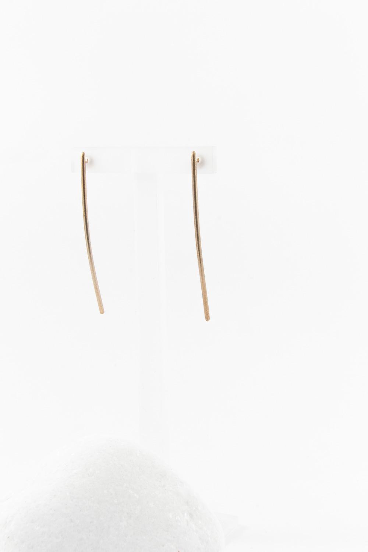 Earrings Line Short, Redgold