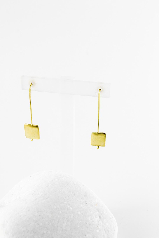 Earrings Square Short, Gold