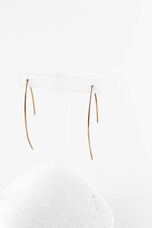 Earrings Line Long, Redgold