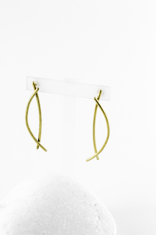Earrings Fish, Gold