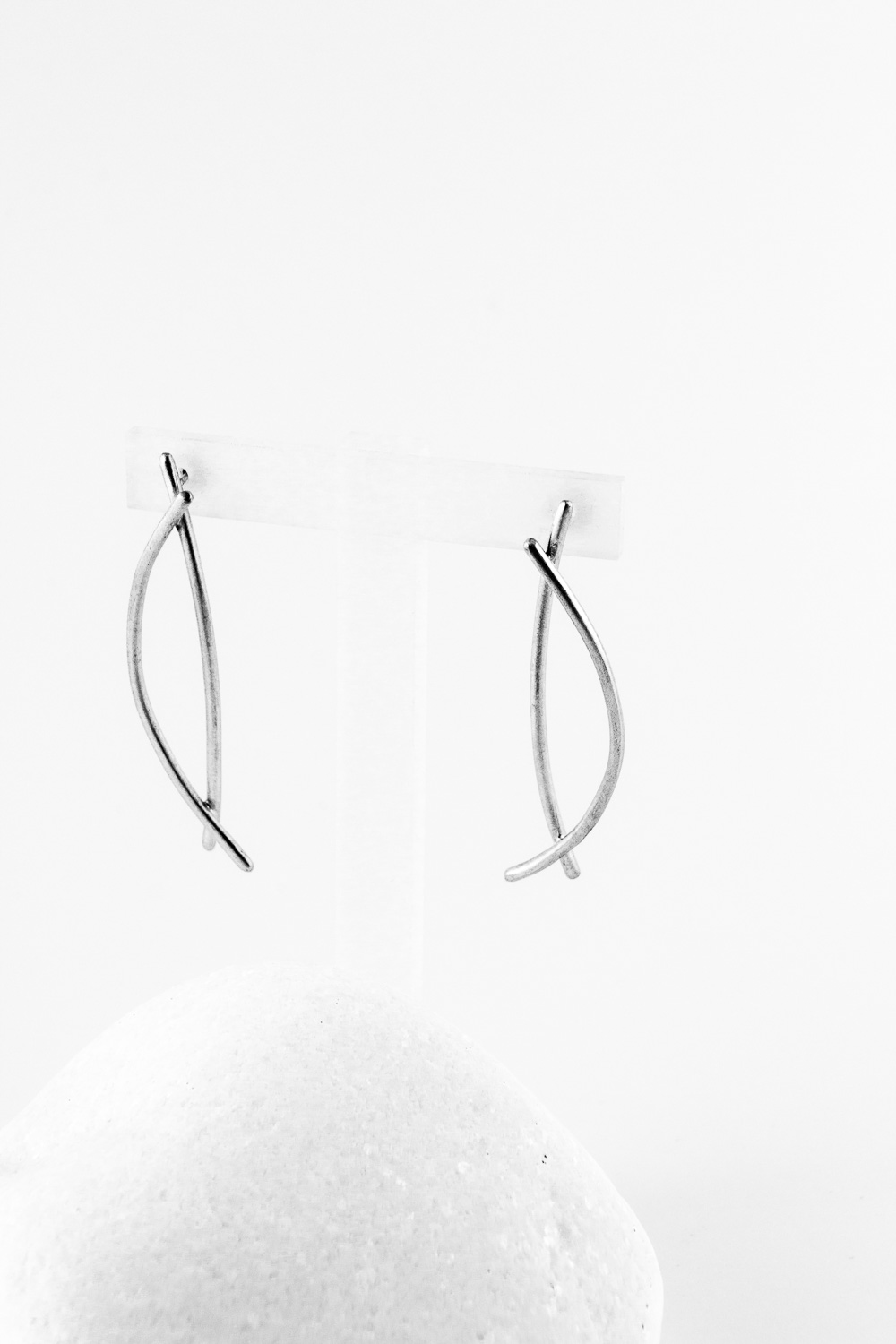 Earrings Fish, Silver