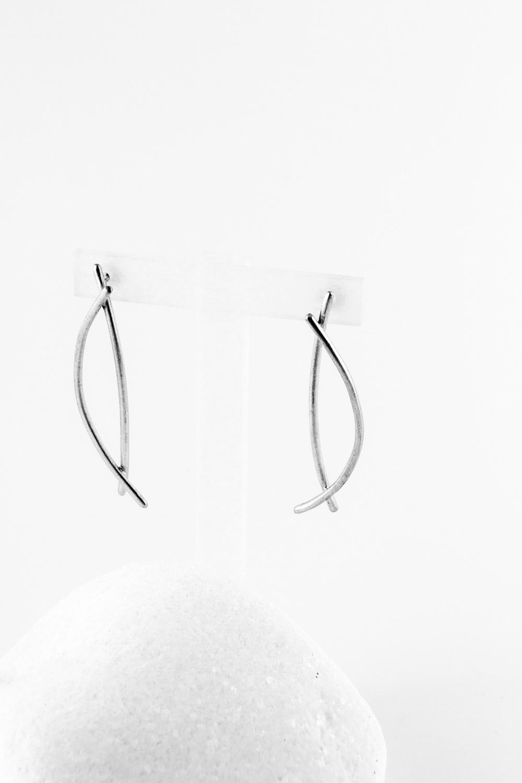 Earrings Fish, Silver