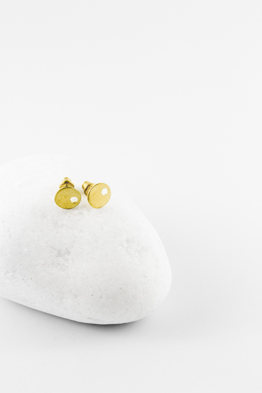 Earrings Eye, Gold
