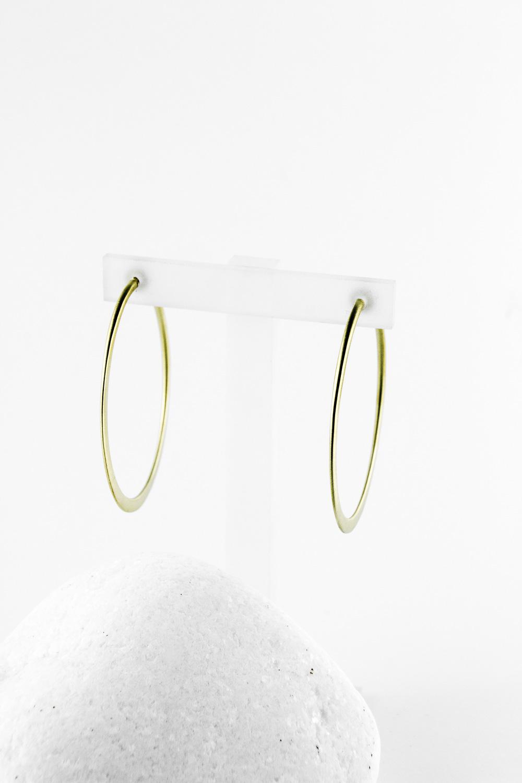 Earrings Hoops, Gold