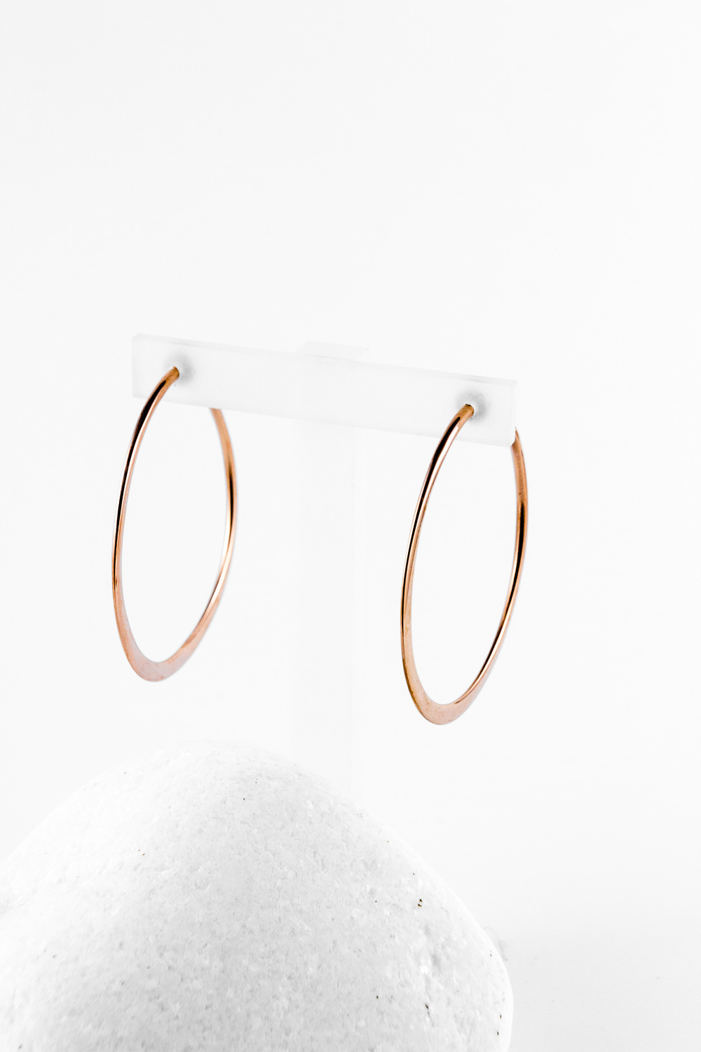 Earrings Hoops, Redgold