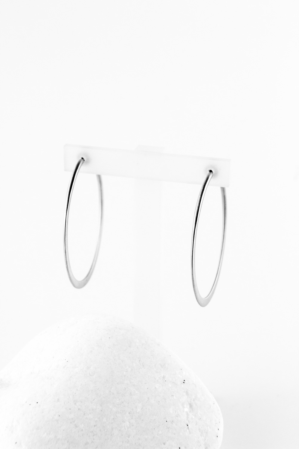Earrings Hoops, Silver