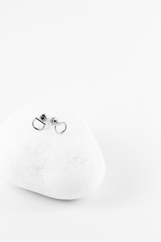 Earrings Halfmoon, Silver