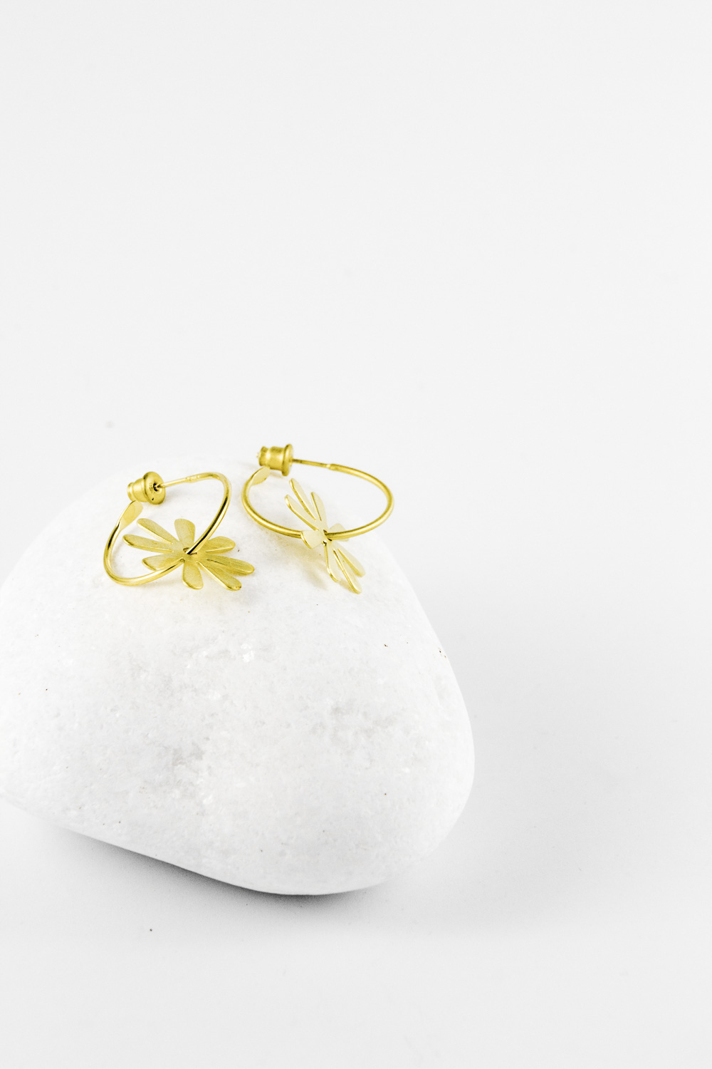 Earrings Flower, Gold