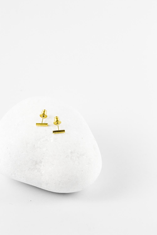 Earrings Comma Mini, Gold