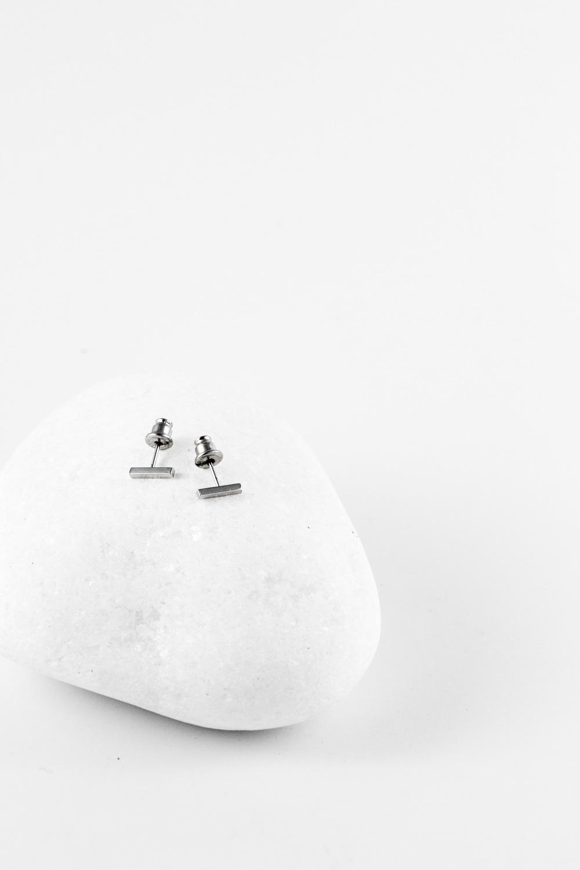 Earrings Comma Mini, Silver