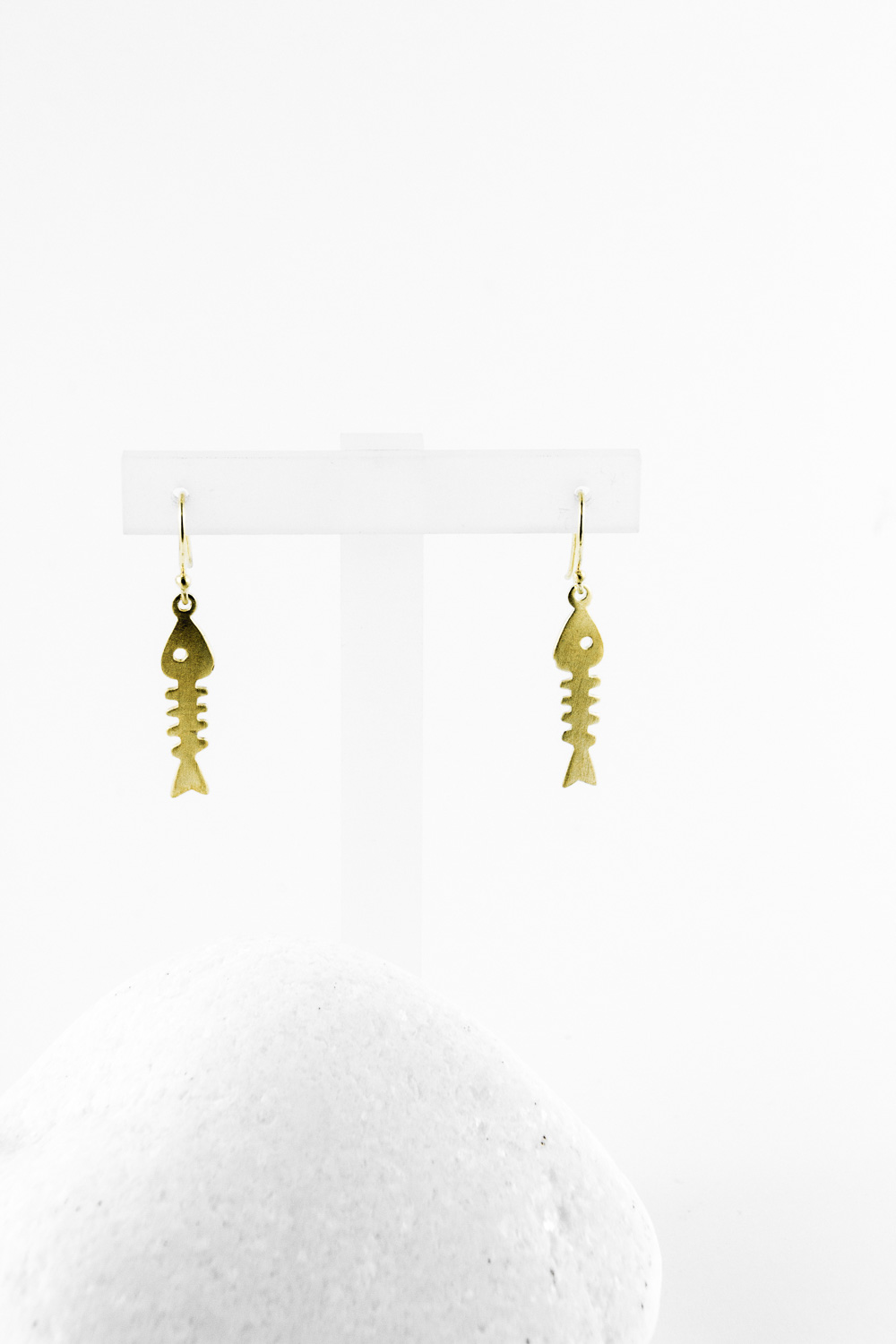Earrings Fishbone, Gold