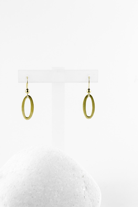 Earrings Oval, Gold