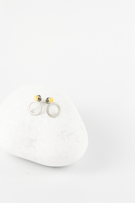 Earrings Silver / Gold Dot