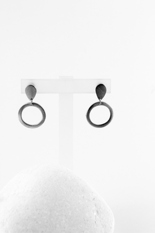 Earrings Drop, Silver