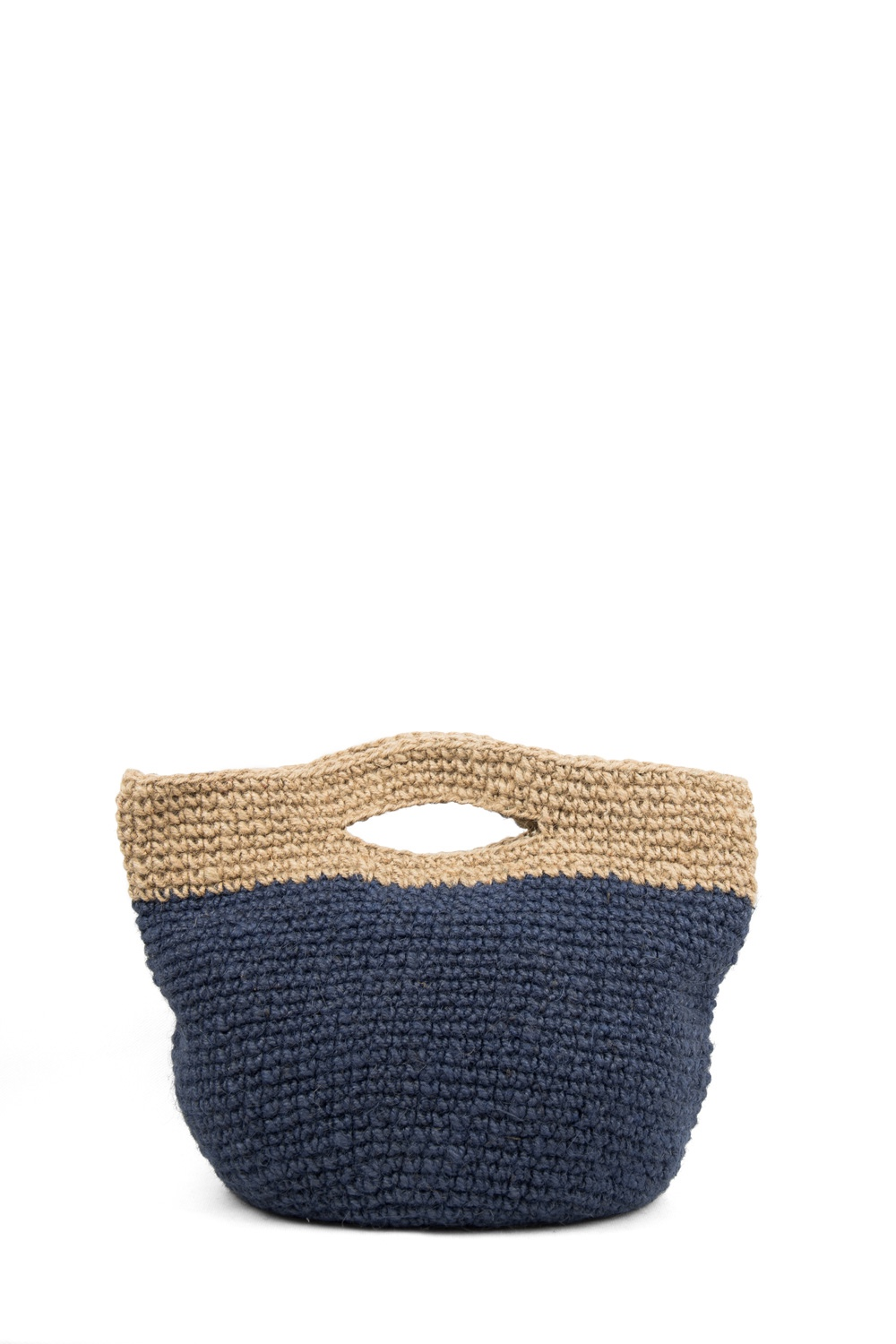 Bag Jute Simplicity, Blue / Natural