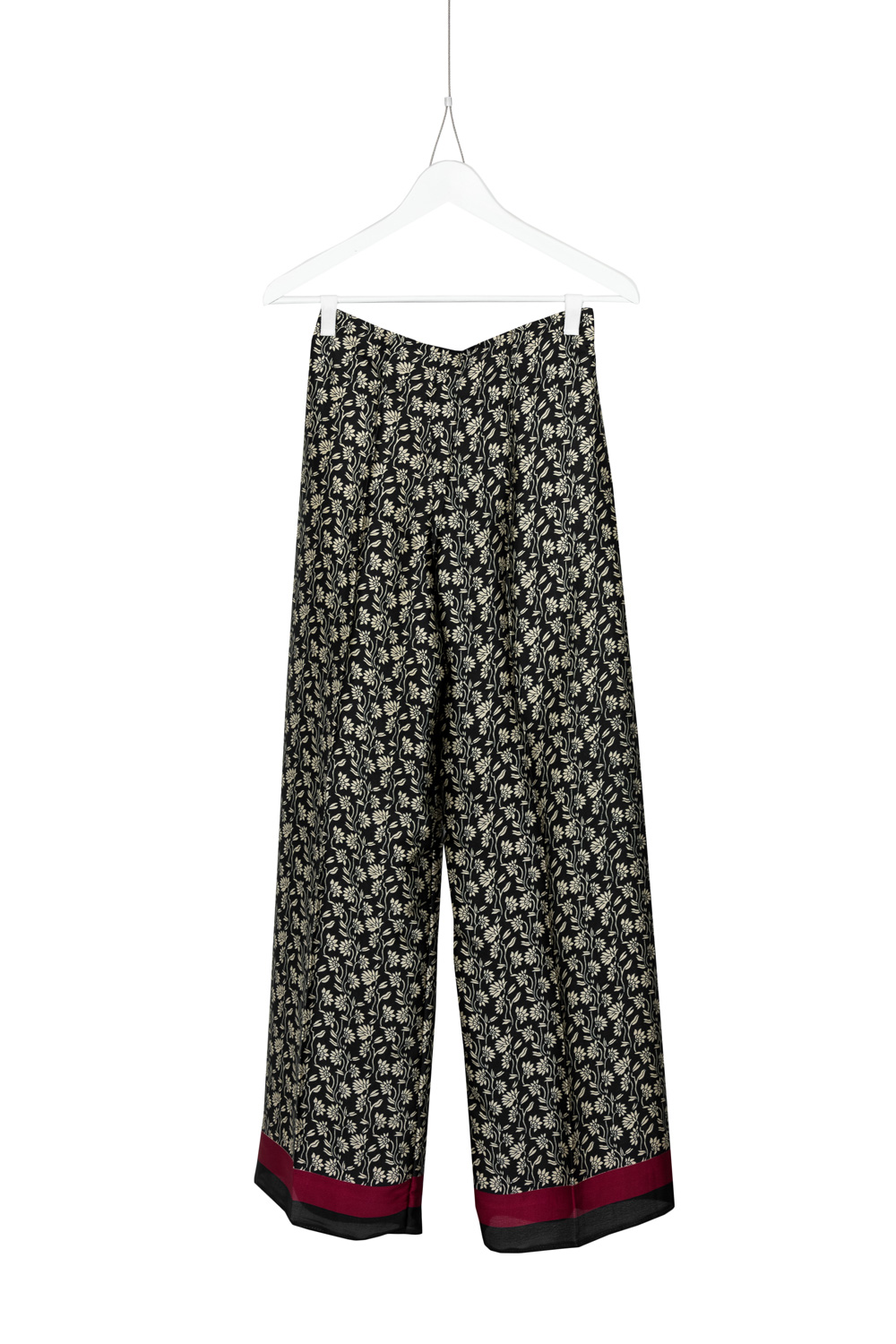 Pants Dia Silk, Black / Off White