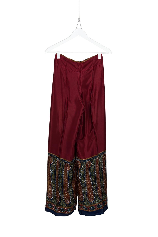 Pants Dia Silk, Red / Orange