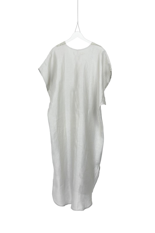 Dress Deja, Natural Linen, back