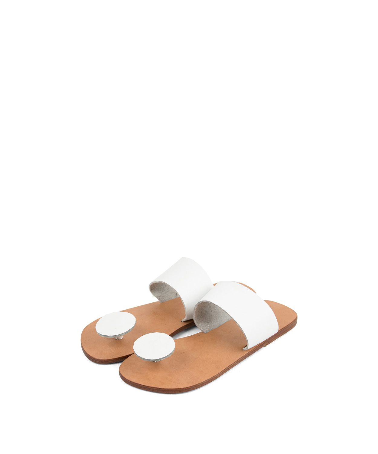 Sandals Button, White